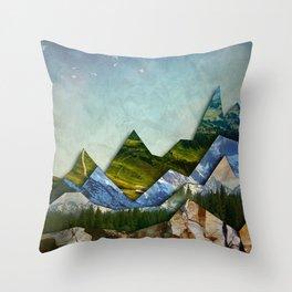 The Mountain Range Throw Pillow