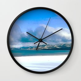 Frozen Snowy Lake Wall Clock