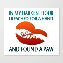 FOUND A PAW Canvas Print