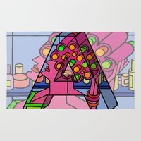 letter Area & Throw Rugs featuring Letter A by Stefan Stettner
