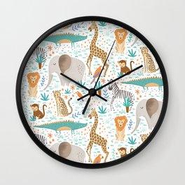 Into the Jungle - White Wall Clock