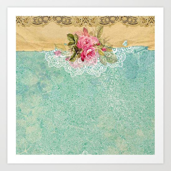 Pretty Vintage Rose #6 Art Print