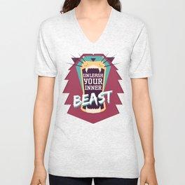 Unleash Your Inner Beast Unisex V-Neck