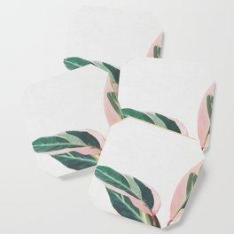 Pink Leaves II Coaster