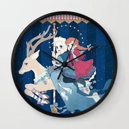 Carousel: The sky's awake Wall Clock