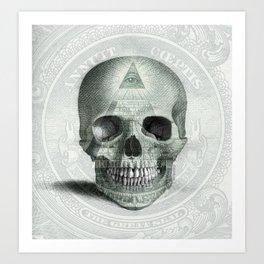 Eye on the Skull Art Print