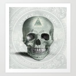Eye on the Skull Art Print