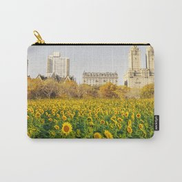 Central Park Sunflower Field Collage Carry-All Pouch
