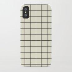 simple grid iPhone X Slim Case
