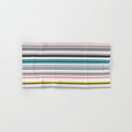 grey and colored stripes Hand & Bath Towel