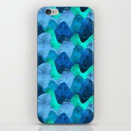 Grunge Sea waves iPhone Skin