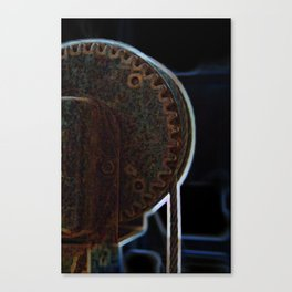 Circular Corrosion Canvas Print