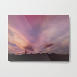 Sunset at 75 mph Metal Print