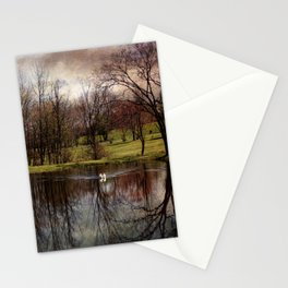 Greeted by the Swan Stationery Cards