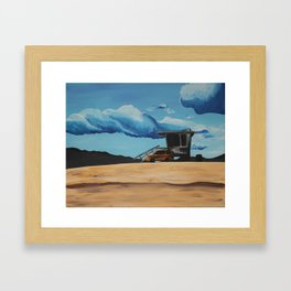 Beach Driving Framed Art Print