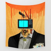 motivation Wall Tapestries featuring Mankind Motivation 4 by Marko Köppe