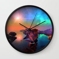 ship Wall Clocks featuring Ship  by nicky2342