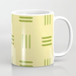 Mid Century Modern Patterned Lines (Lime) Coffee Mug
