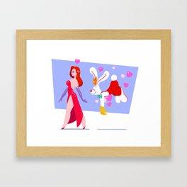 Bunny Love Framed Art Print