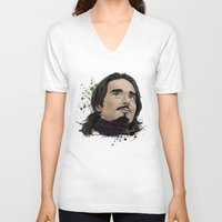 kevin russ V-neck T-shirts featuring Kevin -BSB by Tish