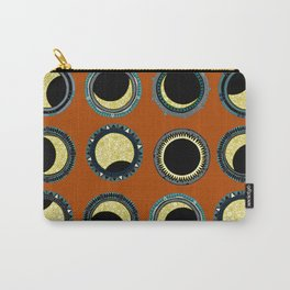 solar eclipse mandala orange Carry-All Pouch