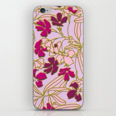 Jungle Dusk in Orchid iPhone & iPod Skin