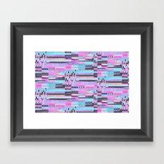 Pink lines of chalk Framed Art Print