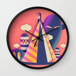 Temple Haze Wall Clock