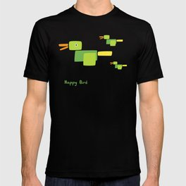 Happy Bird-Green T-shirt