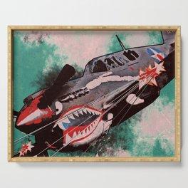 P40 Warhawk attack Serving Tray