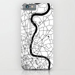 London Minimal Map iPhone Case