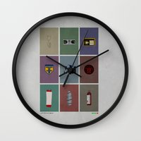 fringe Wall Clocks featuring Fringe (colors) by avoid peril