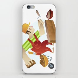 construction worker iPhone Skin