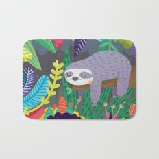 Sloth in nature Bath Mat