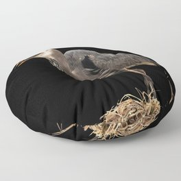 Heron Eating the Mole Floor Pillow