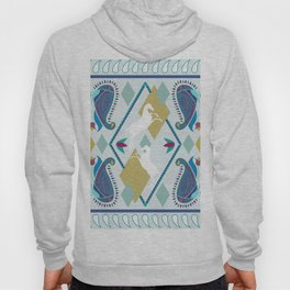 Paisley and Horse Hoody