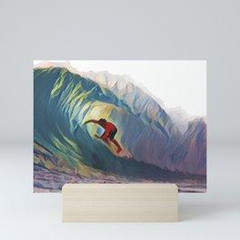 Inside the waves Mini Art Print
