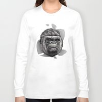 gorilla Long Sleeve T-shirts featuring Gorilla by Creadoorm