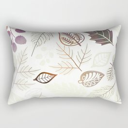 Purple Leaf Rectangular Pillow