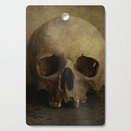 Male skull in retro style Cutting Board