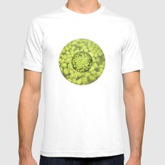 Green Beans MEDIUM White Mens Fitted Tee