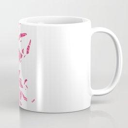Girly Pink Glitter Abstract Skull Cool Photo Print Coffee Mug