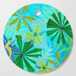 My blue abstract Aloha Tropical Jungle Garden Cutting Board