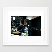 korean Framed Art Prints featuring Old Korean by The Graphic Artist