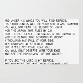 Psalm 91 #minimalism Rug