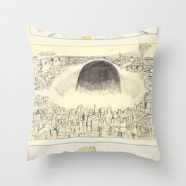 the destruction of neo-springfield Throw Pillow