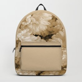 Monochrome Abstract Mums Backpack