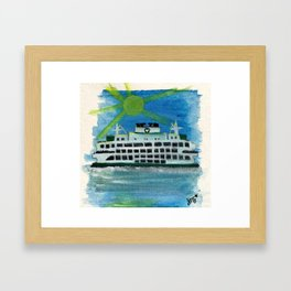 Sailing on Heavenly Seas Framed Art Print