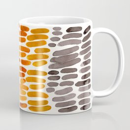 Yellow Ochre Brown Dark Brown Fall Autumn Color Palette Natural Patterns Colorful WatercolorAbstract Coffee Mug