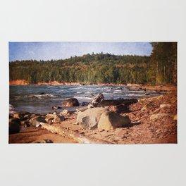 Michigan Upper Peninsula Shoreline Rug